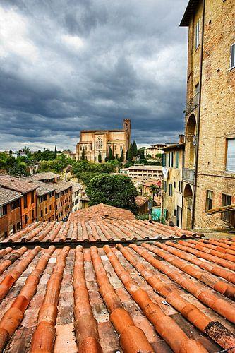 Stadsgezicht in Florence, Italië van