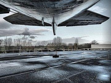 vliegtuig op wachten von