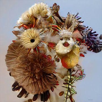Alien Flowers 1 van Rein Bijlsma