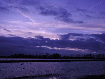 zonsondergang van Max De Vos