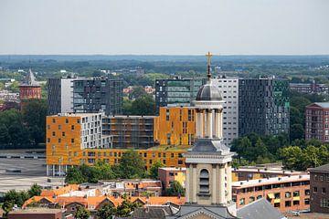 Panoramisch uitzicht vanaf de Grote Kerk te Breda