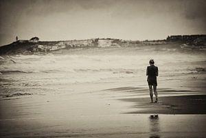 Eénzaam op het strand van