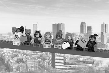 Lunch atop a skyscraper Lego edition - Super Heroes - Women - Rotterdam von Marco van den Arend