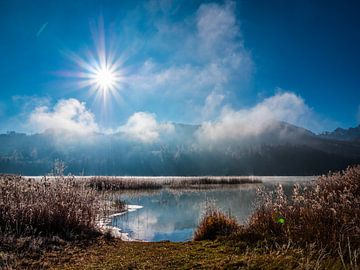Winterlandschaft mit See von Mustafa Kurnaz