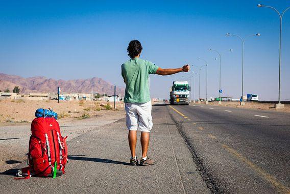 Liften en backpacken in Jordanië  van Bart van Eijden