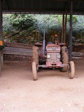 Tractor in Frankrijk van Mirjam van Ginkel