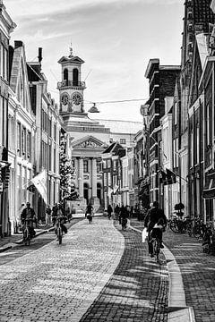 Rathaus von Dordrecht Niederlande Schwarz und Weiß von Hendrik-Jan Kornelis