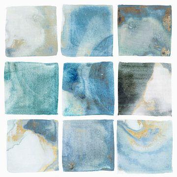 Indigo Squares II, Isabelle Z  van PI Creative Art