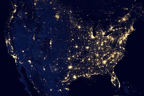Verenigde Staten bij Nacht van