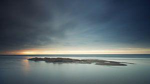 Donkere zonsondergang Zandvoort