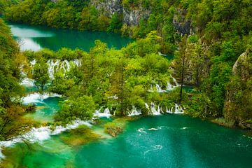 Blick auf die Plitvicer Seen van Daniela Beyer