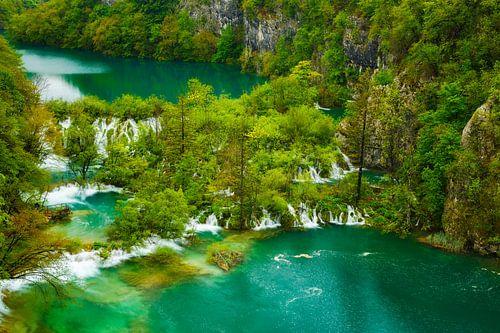 Blick auf die Plitvicer Seen van