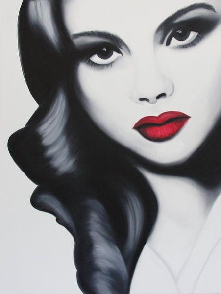 Louise portret popart von anja verbruggen