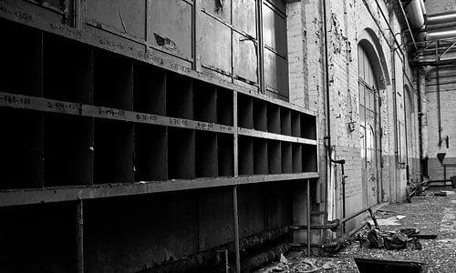 Abandoned industry van