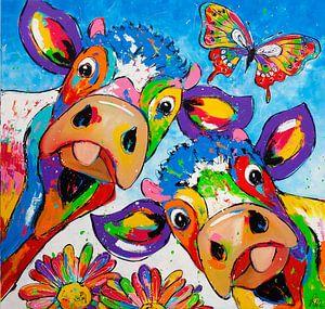 Koop werken van renate corrie vrolijk schilderij - Kleur schilderij gang ...