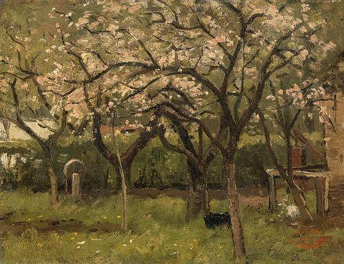 Blühender Baum im Obstgarten - Geo Poggenbeek von Hollandse Meesters