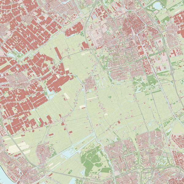 Kaart van Midden-Delfland van Rebel Ontwerp