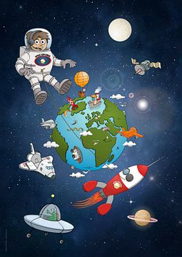 All around the earth. van Galerie Ringoot