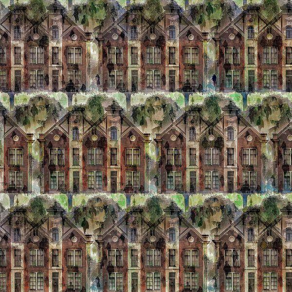 Cityscape V (op basis van rijksmonument de Sterrehof, Utrecht) van Ruben van Gogh