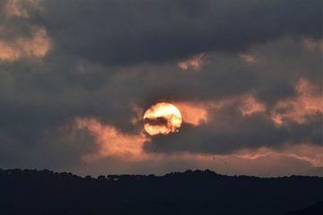 Zonsondergang in Spanje van