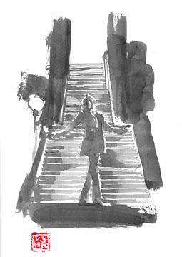 der Joker auf der Treppe von philippe imbert