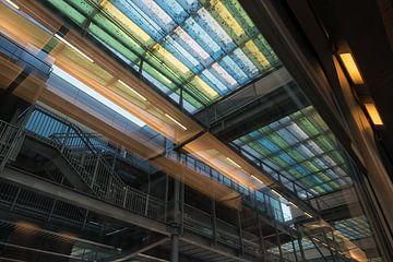 Decke im Bahnhof von Ostende von Christophe Fruyt