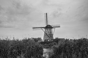 Kinderdijk, schwarz-weiß, nur 1 Million von Patrick Verhoef