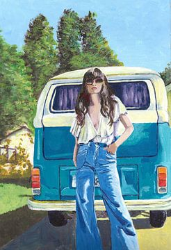 HippieGirl von Lucienne van Leijen