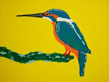 Ijsvogel van Teun Poppelaars