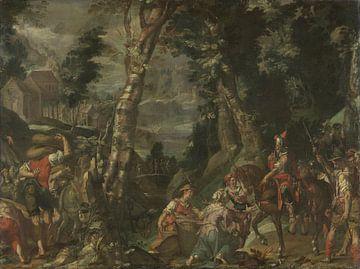 De ontmoeting tussen David en Abigail, Joachim Wtewael sur