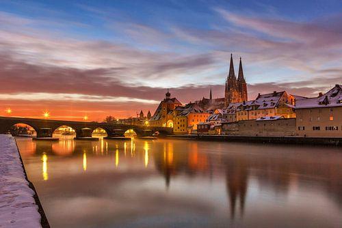 Regensburg bei Sonnenaufgang