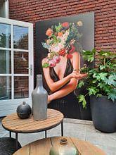 Klantfoto: Her Secret Garden van Marja van den Hurk, op canvas