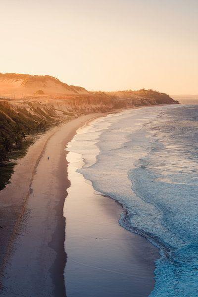 Pipa strand zonsondergang van Andy Troy
