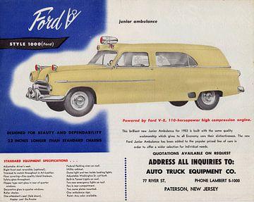 1953 Ford Junior Krankenwagen Werbung von Natasja Tollenaar