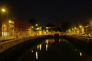Den Bosch bij nacht - Sluis 0 sur Max Davidse