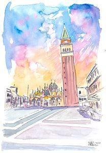 Ruhiger Nachmittag auf dem Markusplatz in Venedig