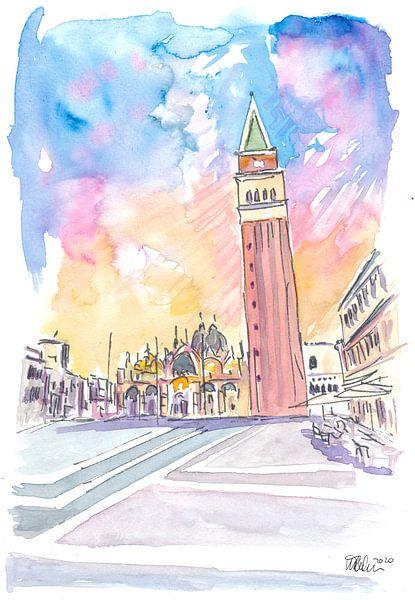 Ruhiger Nachmittag auf dem Markusplatz in Venedig von Markus Bleichner