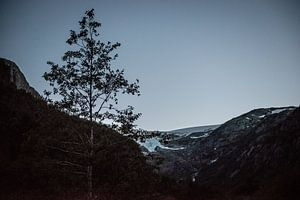 Gletjser in Noorwegen in de schemering / Glacier in Norway in twilight