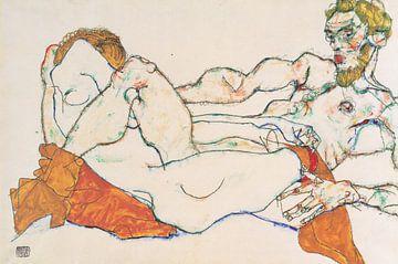 Liebespaar, Egon Schiele - 1913 von Atelier Liesjes