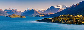 De weg naar Glenorchy, Otago, Zuider Eiland, Nieuw Zeeland van Henk Meijer Photography