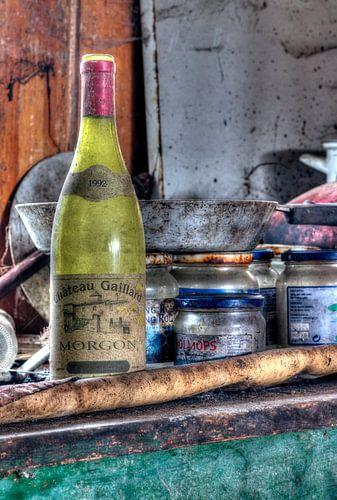 Fles wijn van