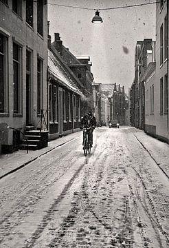 Winter in Groningen van Fons Bitter