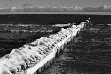 Baltische Zee Winteravond van Thomas Jäger
