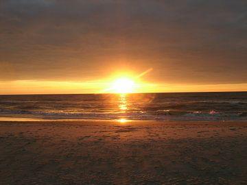 zonsondergang in Blavand Denemarken van tiny brok