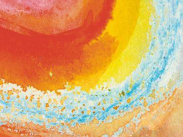 Aquarel V van Herma Egberts