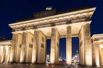 Berlin - Porte de Brandebourg la nuit