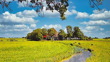 Boerderij in Friesland van Digital Art Nederland