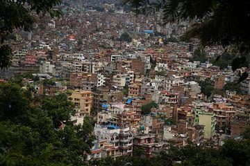 Stadsgezicht Kathmandu Nepal von Marilyn Bakker