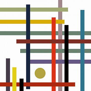 Lignes colorées sur Marion Tenbergen
