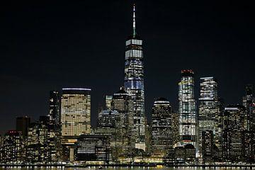 Tour de la Liberté à New York, de nuit sur Wilma van den Bosch